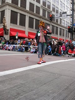 Happy Harry the clown in the Celebrate the Seasons Parade