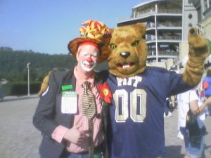 Happy Harry the clown & Pitt panther